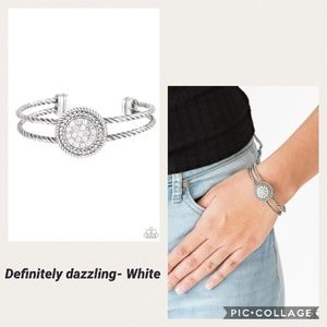 Definitely dazzling white bracelet